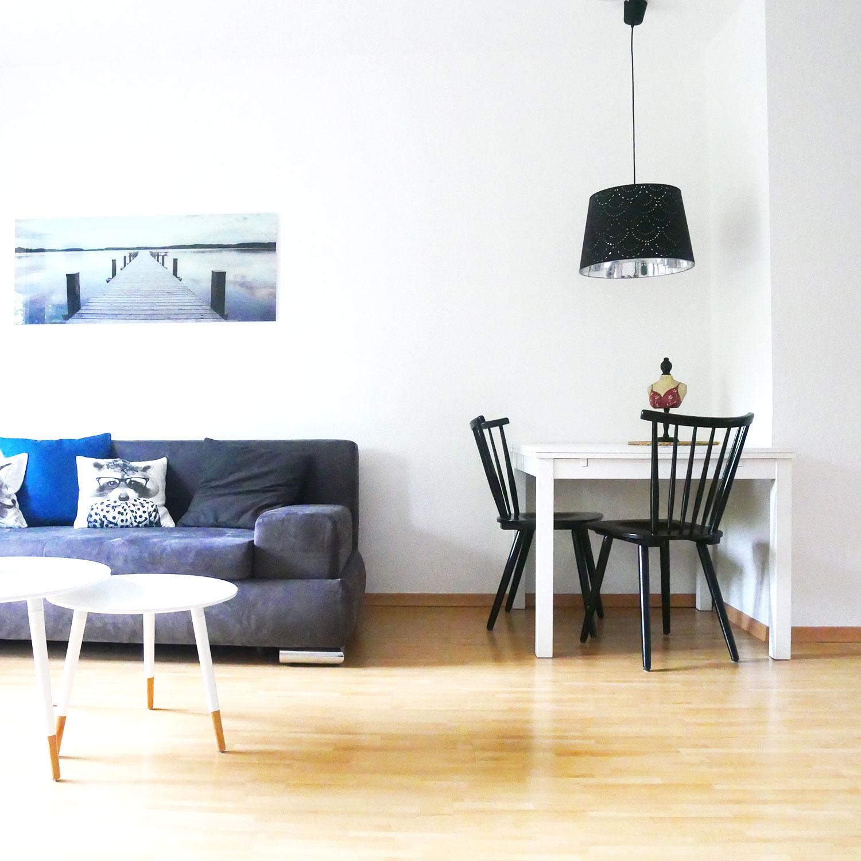 Wohnzimmer Esstisch aufgeräumt Ordnungscoaching Lisa Schäfer